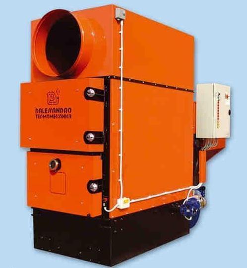 Generadores de aire caliente con biomasa